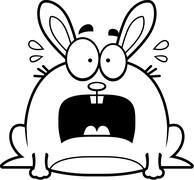 Terrified Little Rabbit Stock Illustration