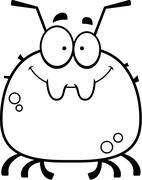 Smiling Little Tick - stock illustration