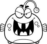 Evil Little Viperfish Stock Illustration