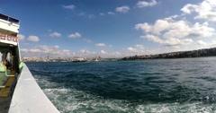 Harem sirkeci ferryboat trip timelapse in istanbul Turkey Stock Footage