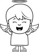 Child Angel Excited Stock Illustration