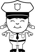 Girl Police Officer - stock illustration