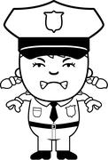 Stock Illustration of Angry Police Officer