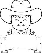 Little Cowboy Banner Stock Illustration