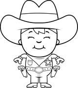 Kid Sheriff - stock illustration
