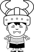 Angry Cartoon Orc Child Stock Illustration