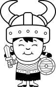 Cartoon Orc Child Sword Stock Illustration