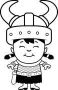Smiling Cartoon Orc Child - stock illustration
