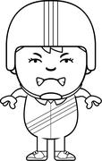 Angry Cartoon Daredevil - stock illustration
