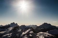 Italian Dolomiti ready for ski season Stock Photos