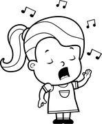 Toddler Singing - stock illustration