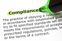 Compliance Definition - stock photo