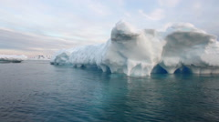 Floating Icebergs Stock Footage