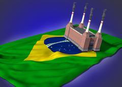 national heavy industry concept - Brazilian theme - stock illustration