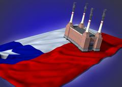 national heavy industry concept - Chilean theme - stock illustration