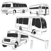 bus vector - stock illustration