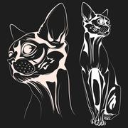 Cat1 vector Stock Illustration
