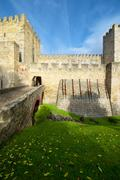 Castle of San Jorge - stock photo
