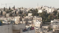 Amman, Jordan, pan L-R of cityscape wide Stock Footage
