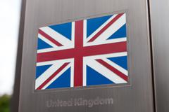 British flag on pole - part of a series Stock Photos