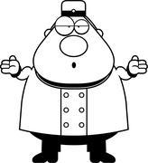 Stock Illustration of Confused Cartoon Bellhop