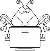 Computer Bug - stock illustration