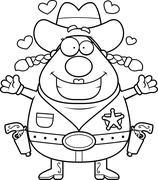 Stock Illustration of Sheriff Hug