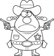 Stock Illustration of Angry Sheriff