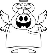 Stock Illustration of Cartoon Holy Cow