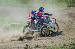 Trike racers - stock photo