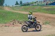 Stock Photo of Motorcycle youthful racer
