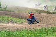 Stock Photo of Motorcycle racers