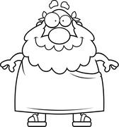 Greek Philosopher Smiling - stock illustration