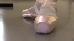 Dolly shoot.Details ballet shoes Stock Footage