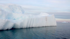 Sail near Antarctica Iceberg Stock Footage