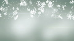 Snowfall on gray seamless loop christmas background 4k (4096x2304) Stock Footage
