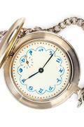 Retro watch with horoscope - stock photo