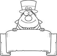 Cartoon Magician Banner Stock Illustration
