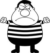 Cartoon Mime Angry - stock illustration
