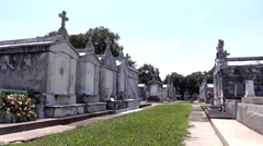 Greenwood Cemetery in New Orleans Louisiana 4k Stock Footage