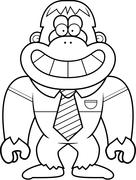 Cartoon Bigfoot Tie - stock illustration
