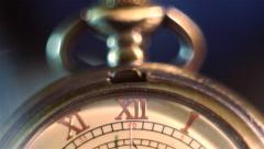 Old Stopwatch Clock Gears Mechanism3.mp4 Stock Footage