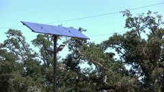 Solar panel on post in parking lot 4k Stock Footage