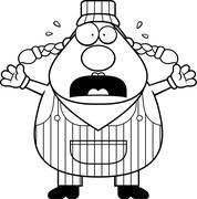 Train Conductor Panic Stock Illustration
