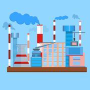 Plant architecture tubes smoke - stock illustration