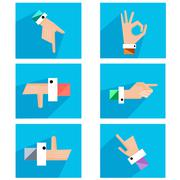 Hands showing symbolic icons Stock Illustration