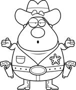 Stock Illustration of Sheriff Confused