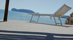 Private Sunbed with Amazing View on Capo Caccia Sardinia - 29,97FPS NTSC - stock footage