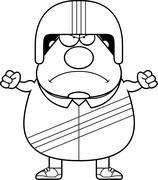 Angry Cartoon Stuntman - stock illustration