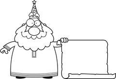 Wizard Scroll - stock illustration